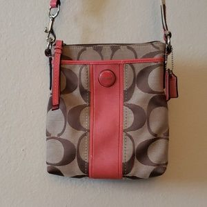 Coach Messenger Crossbody Bag in Color Block Pink
